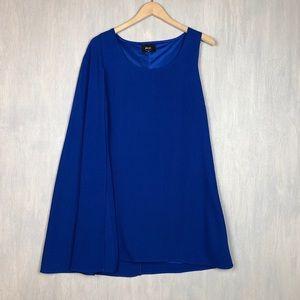 NWT Nasty Gal Flygirl one shoulder cape dress M
